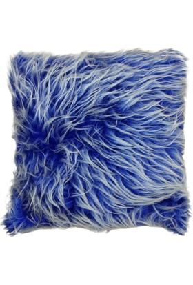 Fidukkan Peluş Kırlent Mavi