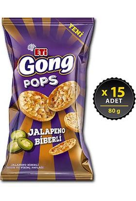 Eti Gong Pops Jalapeno 80 g x 15 Adet