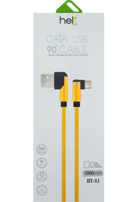 Helt HT-81 Micro USB Data ve Şarj Kablosu - Gold
