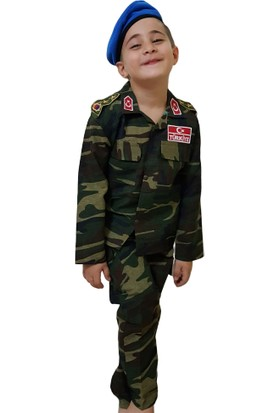 Erteks Çocuk Asker Komando Kıyafeti 11 Yaş