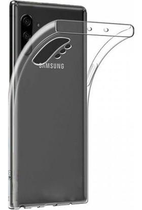 Mahtex Samsung Galaxy Note 10 Plus Süper Silikon Kılıf Şeffaf