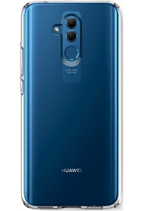 Aktif Aksesuar Huawei Mate 20 Lite Şeffaf Silikon Kılıf Ultra Ince Lens Korumalı Tıpalı