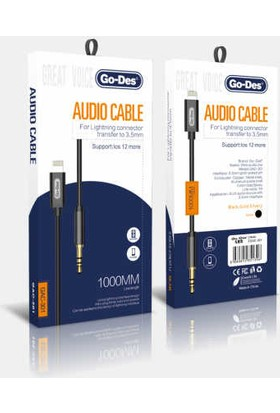 Go-Des GAC-301 Lightning Aux Kablo