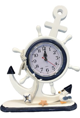 Alpin Dekoratif Marin Çapa Saat Denizci Gemici Marin Çapa Saat Büyük Boy Denizci Gemici