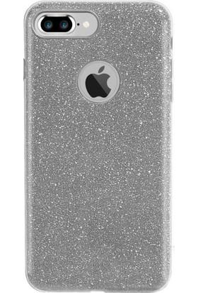 Fshang Apple iPhone 7 Simli Kılıf - Gümüş
