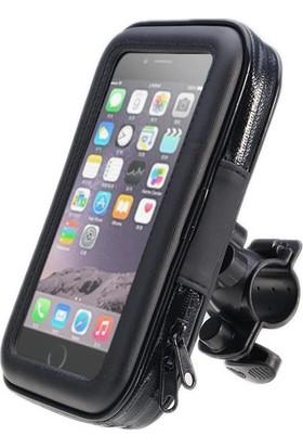 Knmaster Gidon Bağlantılı Su Geçirmez Motosiklet Bisiklet Telefon Tutucu M