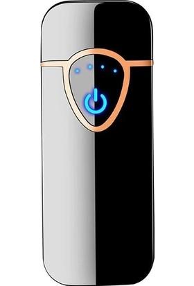 Lighter Alevsiz Şarjlı Elektronik Çakmak Siyah