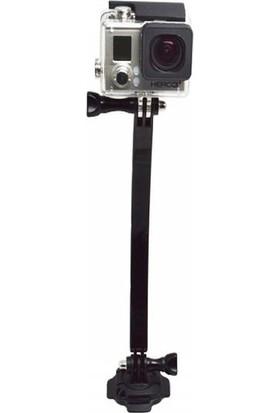 Tüm Aksiyon Kameralara Uyumlu 360 Derece Dönebilen Kask Uzatma Seti