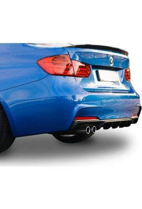 Btg BMW 3 Serisi F30 2012 Sonrası M Performance Soldan Çift Çıkış Difüzör (Taiwan)