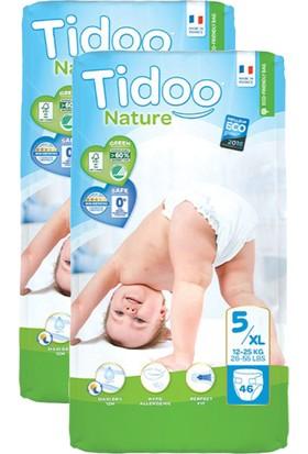 Tidoo Nature Bebek Bezi Junior 5 Beden Numara 12-25 kg 46X2 92 Ekolojik Antialerjik Jumbo Paket