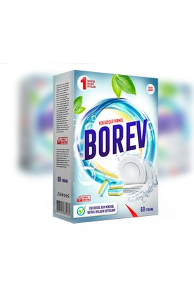 Borev Bulaşık Deterjanı Tableti 60 Tablet 2 Adet