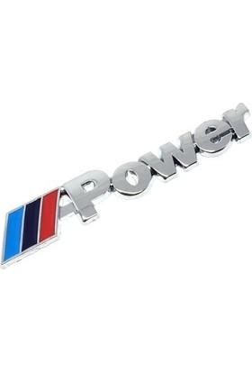 Oto Aksesuarcım BMW-M Power Metal Çamurluk Bagaj Yazısı