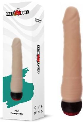 Crazy Bull 17 cm Titreşimli Realistik Dildo Vibratör Penis