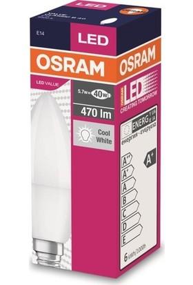 Osram 5 W E-14 6500K Buji LED Ampul 3'lü