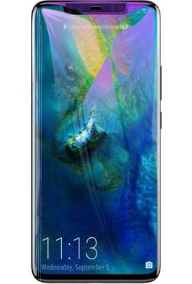 Baseus SGHWMATE20P-KB01 Huawei Mate 20 Pro 3D Anti Blue Light Cam Ekran Koruyucu - Siyah