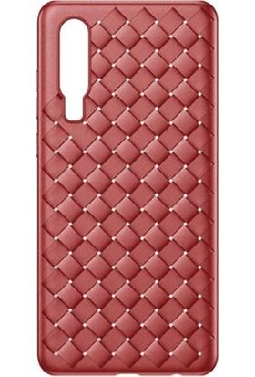 Baseus WIHWP30-BV09 Huawei P30 Ultra Slim Bv Wieving Lux Silikon Kılıf - Kırmızı