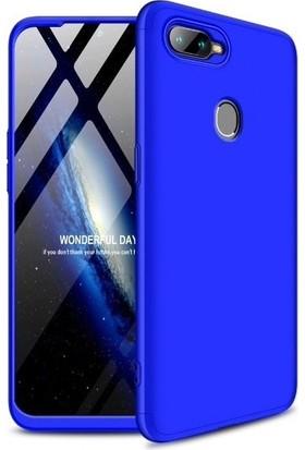 Teleplus Oppo A5s 360 Full Koruma Sert Kapak Mavi