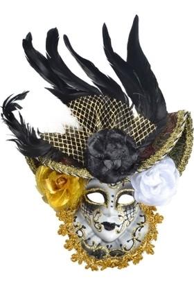 Samur Seramik Dekor Maske Tüylü 15-20 cm