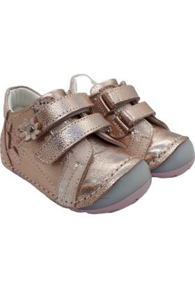 Mini Can Deri Kız İlk Adım Ayakkabısı