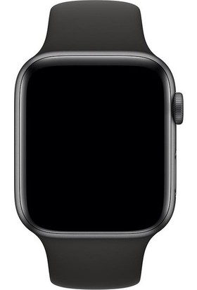 Aksesuarkolic Apple Watch 38-40 mm Silikon Kordon Kayış - Siyah