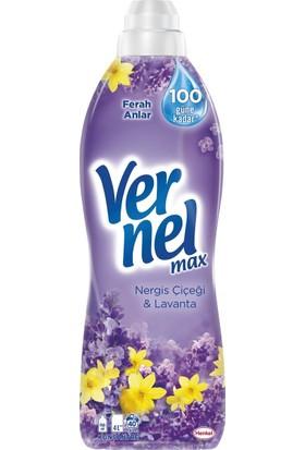 Vernel Max Nergiz Çiçeği - Lavanta Yumuşatıcı 960 ml 40 Yıkama 12'li Set