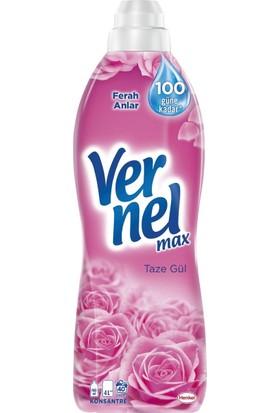 Vernel Max Taze Gül Yumuşatıcı 960 ml 40 Yıkama 12'li Set