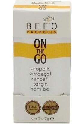BEE'O ON THE GO Propolis - Zerdeçal - Zencefil - Tarçın ve Ham Bal Karışımı 7'li Paket 49 gr