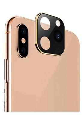 Eretna Apple iPhone 11 Pro Max Lens Dönüştürücü Altın