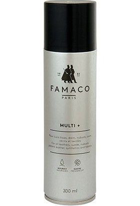 Famaco Paris Multi+ Yüksek Etkili Deri Süet Nubuk Rugan Çok Amaçlı Ayakkabı Renk Yenileyici Canlandırıcı Koruyucu Bakım Spreyi 250 ml