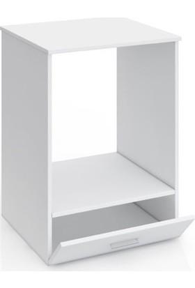 Eko Express Ankastre Modül Kabin Set Üstü Beyaz Ocak Fırın Dolabı