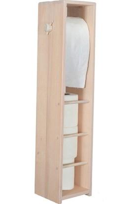 Bahat WC Tuvalet Kağıtlığı Kayın Ağacı Beyaz