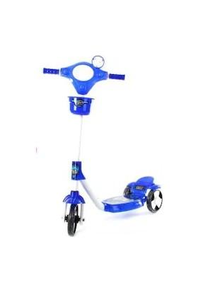 Baby Deniss Üç Tekerlekli Scooter Silikon Tekerlekli Frenli