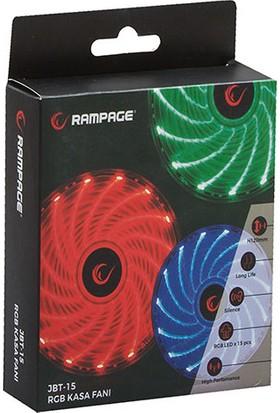 Rampage JBT-15 120*120*25mm 15adet RGB Ledli Kasa Fanı