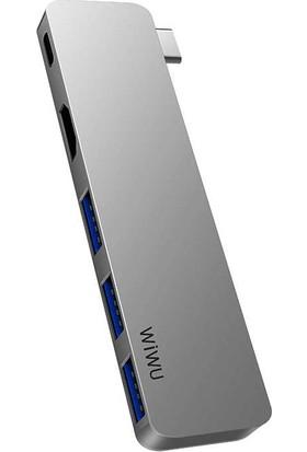 Lopard Wiwu T6 Pro Apple Macbook Type-C Hub 3.0 USB + HDMI + SD Kart + USB C Dönüştürücü