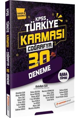 Uzman Kariyer 2020 Kpss Türkiye Karması Coğrafya 30 Deneme Tamamı Çözümlü - Abdullah Eser