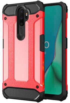 Zore Oppo A9 2020 Kılıf Crash Silikon - Kırmızı