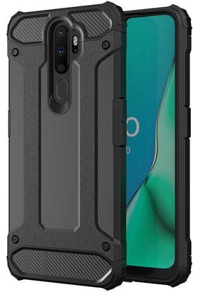 Zore Oppo A5 2020 Kılıf Crash Silikon - Siyah
