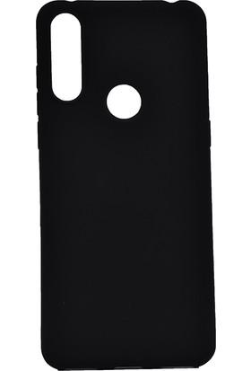 KNY Alcatel 3X 2019 Kılıf Ultra İnce Mat Silikon + Cam Ekran Koruyucu Siyah