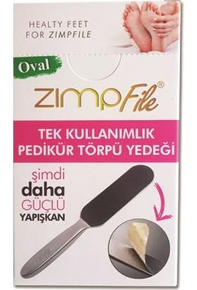 Zımpfile Tek Kullanımlık Pedikür Törpüsü Oval 100 Adet