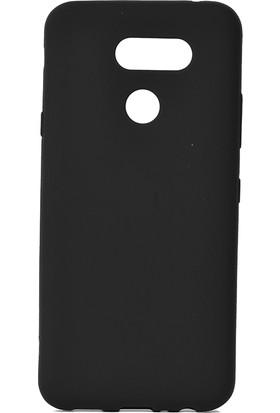 KNY LG K40S Kılıf Ultra İnce Mat Silikon + Nano Cam Ekran Koruyucu Siyah