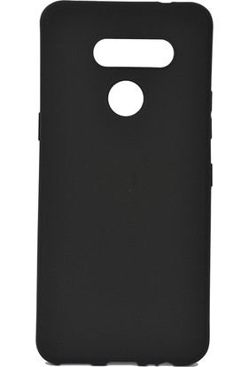 KNY LG K50S Kılıf Ultra İnce Mat Silikon + Cam Ekran Koruyucu Siyah
