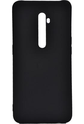 KNY OPPO Reno 2Z Kılıf ultra İnce Mat Silikon + Nano Cam Ekran Koruyucu Gold