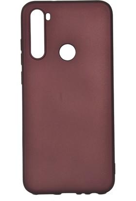 KNY Xiaomi Redmi Note 8T Kılıf Ultra İnce Mat Silikon + Cam Ekran Koruyucu Bordo