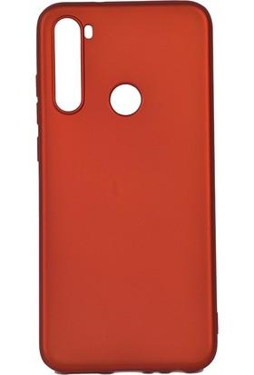 KNY Xiaomi Redmi Note 8T Kılıf Ultra İnce Mat Silikon + Cam Ekran Koruyucu Kırmızı