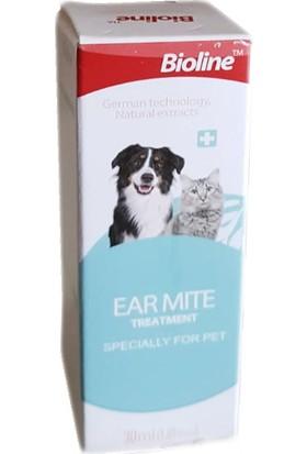 Bioline Kedi ve Köpek Kulak Temizleme Yağı 30 Ml