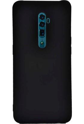 Case 4U Oppo Reno 2Z Kılıf Mat Silikon Arka Kapak Premier Siyah