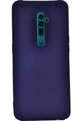 Case 4U Oppo Reno 2Z Kılıf Mat Silikon Arka Kapak Premier Lacivert