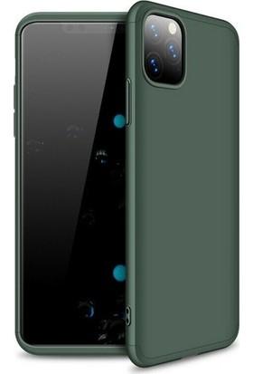 Case 4U Apple iPhone 11 Pro Max Kılıf 360 Derece Korumalı Tam Kapatan Koruyucu Sert Silikon Ays Arka Kapak Yeşil