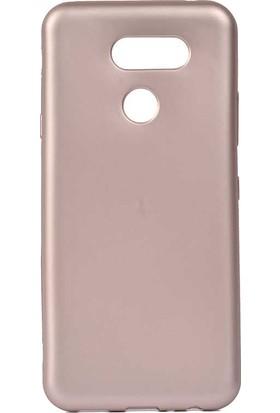 Teleplus LG K50S Kılıf Premier Lüks Silikon Rose Gold