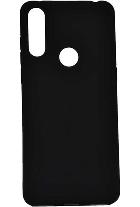 Teleplus Alcatel 3X 2019 Kılıf Lüks Silikon + Nano Ekran Koruyucu Siyah